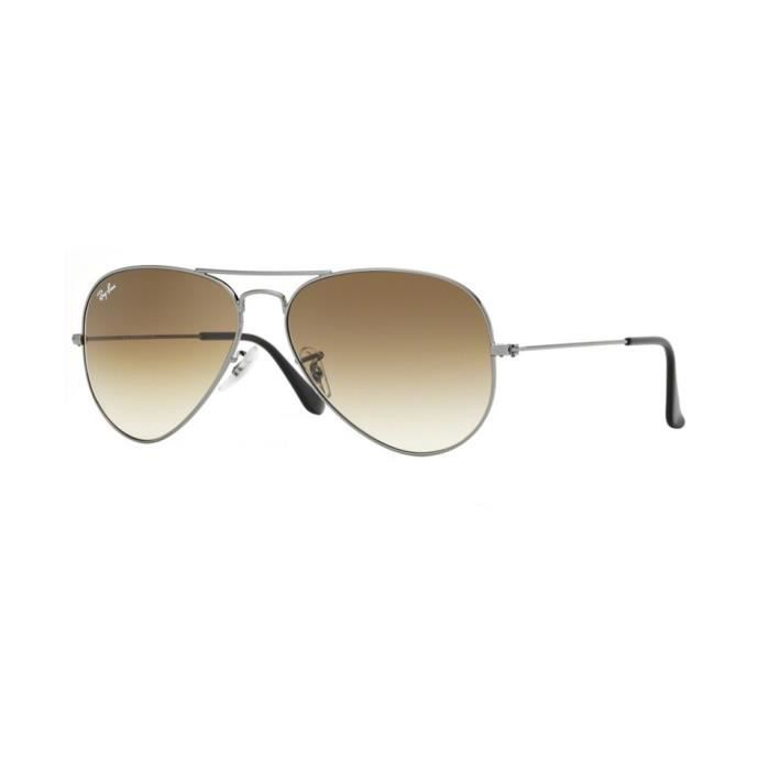 cd3f0a62e6172e Lunettes de soleil Ray-Ban Homme AVIATOR LARGE METAL RB3025 004 51 Gunmetal  55 x 47,5