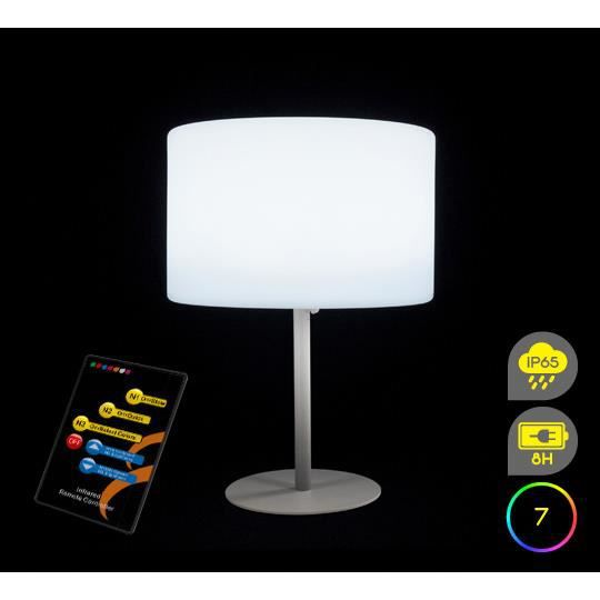 lampe de table led h53cm sans fil rechargeable achat. Black Bedroom Furniture Sets. Home Design Ideas