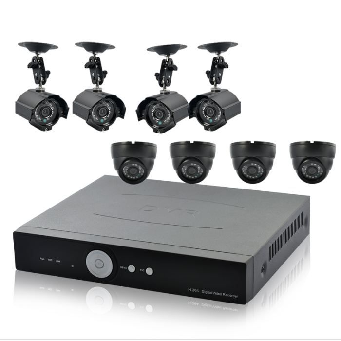 kit de surveillance dvr 4 cam ra ext r achat vente kit vid osurveillance cdiscount. Black Bedroom Furniture Sets. Home Design Ideas