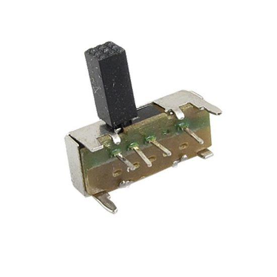 sourcingmap 10 Pcs Sur//sur Position 2 1P2T SPDT Interrupteur /À Glissi/ère Verticale Mini 3 broches PCB SS12F40