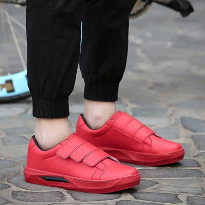 Basket Rouge Basket Chaussures Chaussures velcro Chaussures Homme Basket velcro Homme Homme Rouge velcro Rouge xCzY1nq