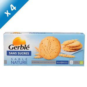 BISCUITS SECS GERBLE Sablés Nature Sans Sucres - 132 g x3