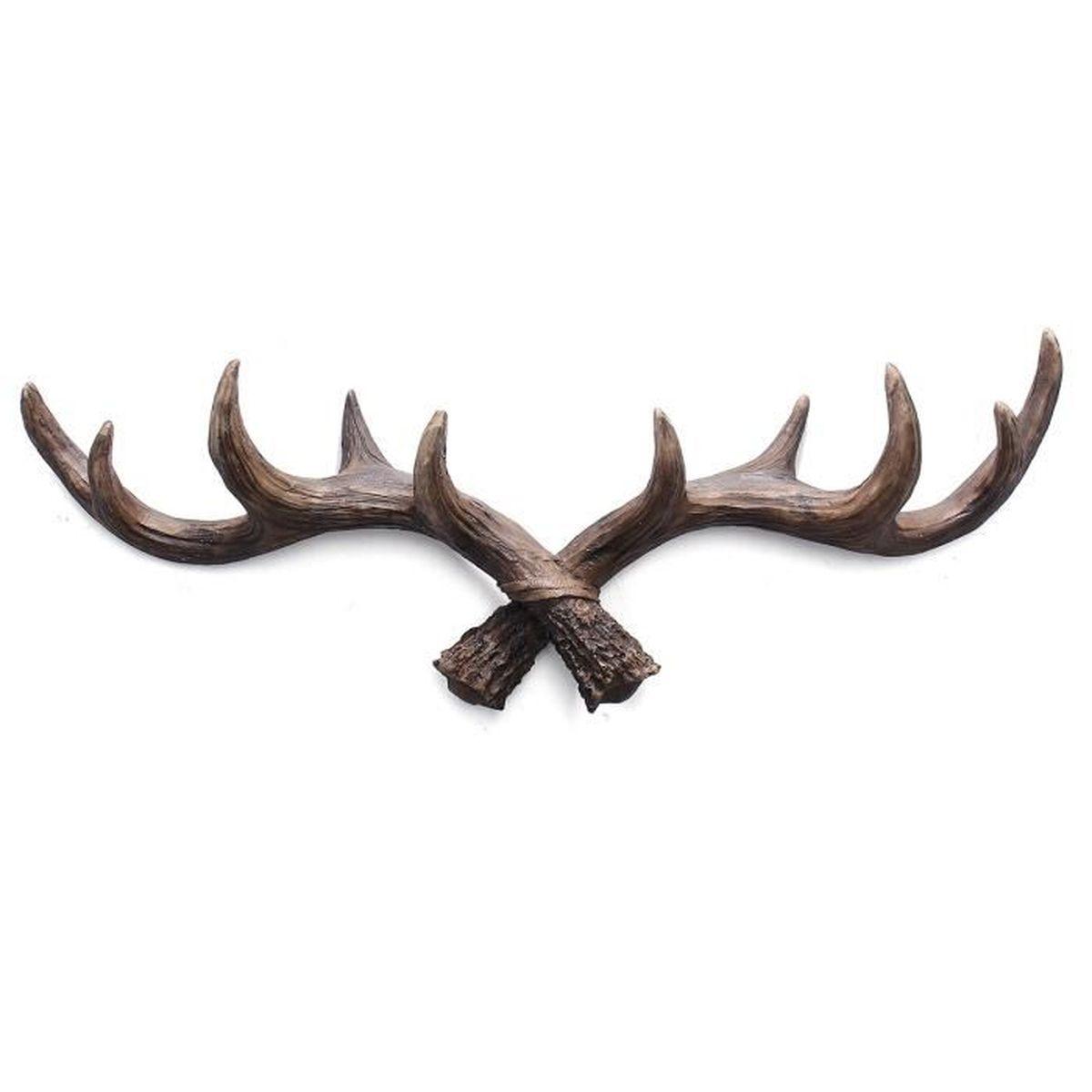 """X2 vintage grande tête de cerf métal verre Stag Buck Hunting 7/"""""""