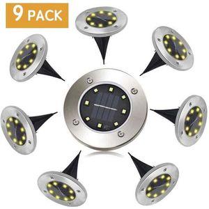 BALISE - BORNE SOLAIRE  Lampe Solaire Exterieur 8 pack LED Lumière Solaire