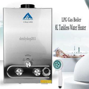 CHAUFFE-EAU 8L GAZ TANKLESS INSTANT DE CHAUFFE-EAU LPG inoxyda