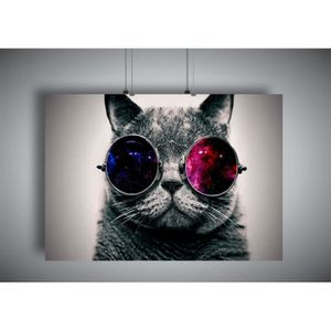 1art1® Posters: Chats Poster Reproduction - I Wear My Sunglasses At Night, Paris 1968, Christian Louis (70 x 50 cm)