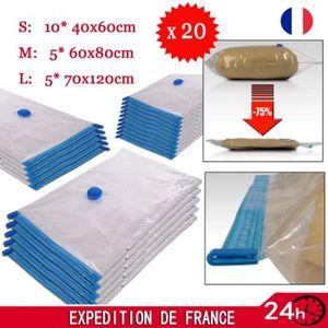 HOUSSE DE RANGEMENT Lot de 20 sacs sous vide pour rangement - 3 taille