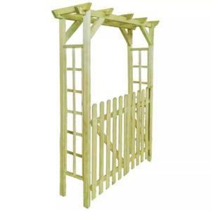 ARCHE Arche pour rosiers-porte de jardin bois imprégné 1