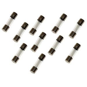 Lot de 10 fusibles semi-lents semi-retard/és semi-temporis/és en verre 2cm 20mm 5mm 5x20mm 220V 250V 10A Aerzetix