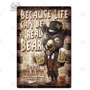 Tôle bouclier bière bar pub coq chope biere mur deco plaque métallique 20x30 CM