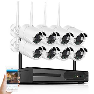 CAMÉRA DE SURVEILLANCE 8CH NVR Système de caméra de sécurité Wifi 2MP 108