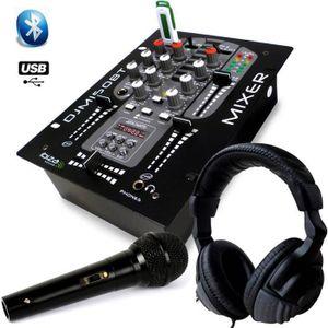 TABLE DE MIXAGE Casque Audio + Table de mixage USB Bluetooth 2 voi