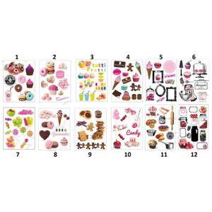 AIMANTS - MAGNETS Planche de Magnet Gourmand - Mod7 Multicolore - Dé