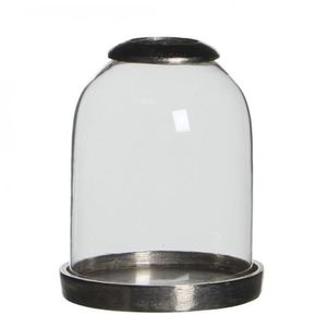 Klass Home Collection Photophore en Forme de Diamant pour Bougie Chauffe-Plat Transparent 13 x 12 x 12 cm
