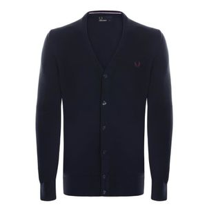 GILET - CARDIGAN Fred Perry Cardigan Homme Bleu Marine