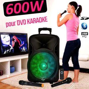 PACK SONO Enceinte Mobile SONO Dj Soirée Karaoké 600W sur Ba