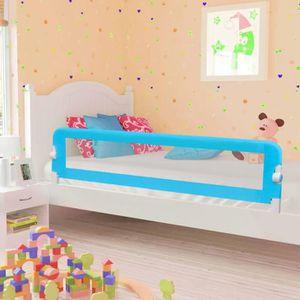 BARRIÈRE DE LIT BÉBÉ vidaXL Barrière de sécurité de lit enfant Bleu 180