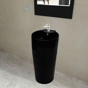 Oc/éan Line Vasque sur Pied en marbre Noir Totem Nago