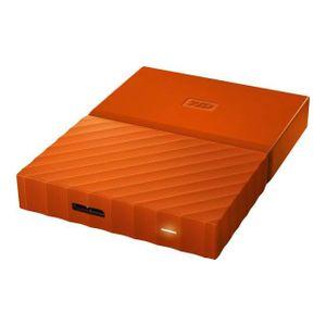 DISQUE DUR EXTERNE WESTERN DIGITAL My Passport - 3To - Orange