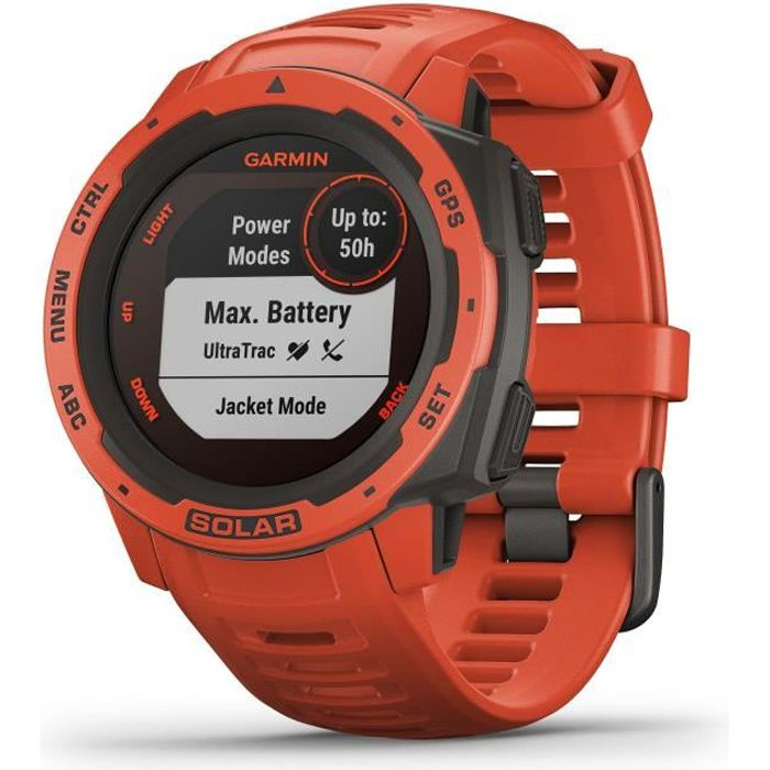 GARMIN Instinct® Solar Montre connectée, Flame Red
