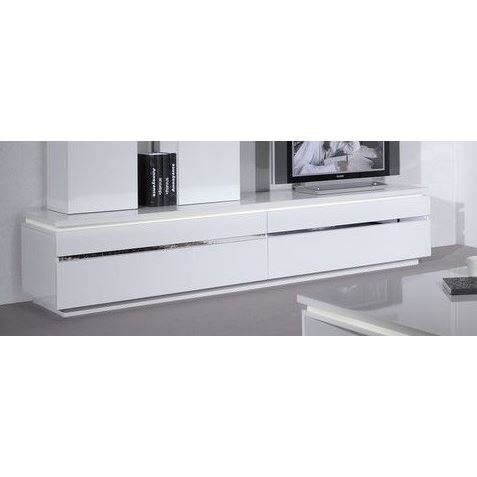 buzz meuble tv clairage 220 cm blanc achat vente meuble tv buzz meuble tv clairage. Black Bedroom Furniture Sets. Home Design Ideas