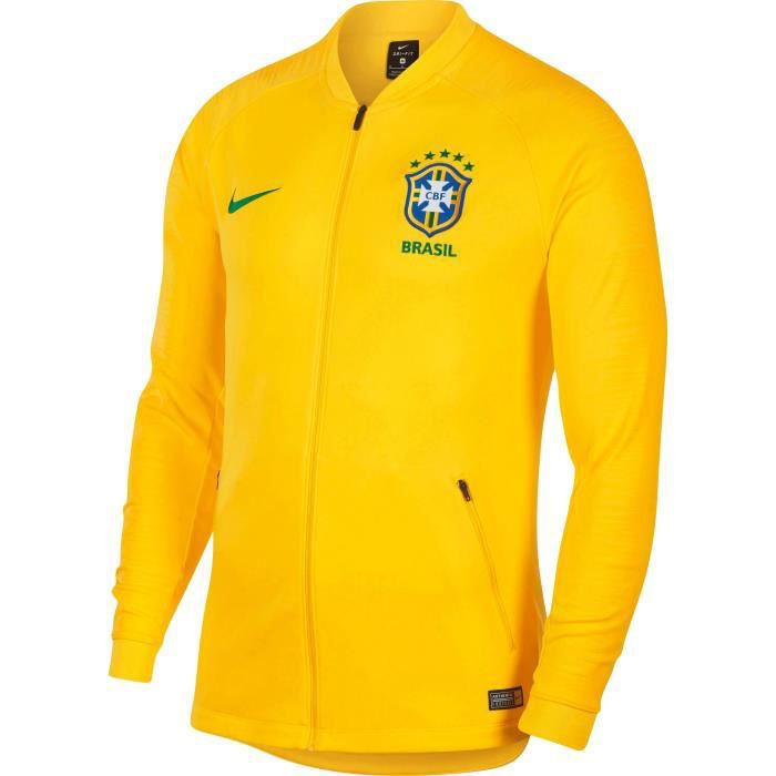 NIKE Sweatshirt de Football Anthem CBF - Homme - Jaune