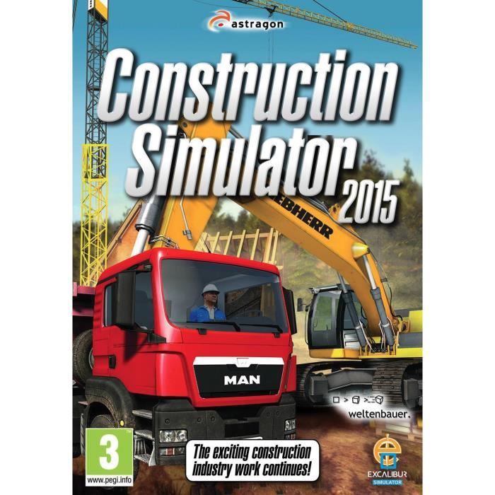 construction simulator 2015 jeu pc achat vente jeu pc construction simulator 2015 pc cdiscount. Black Bedroom Furniture Sets. Home Design Ideas