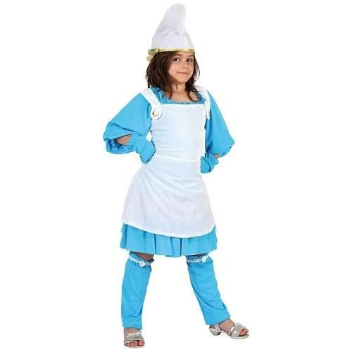 ATOSA - 7032 - Costume / Déguisement Fille NAINE BLEUE - Taille 1