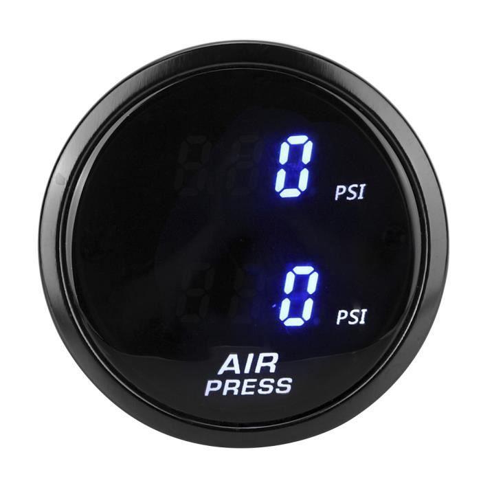 YUM 2 pouces voiture PSI compteur de pression d'air LED bleu affichage numérique Kit de capteur de jauge de suralimentation