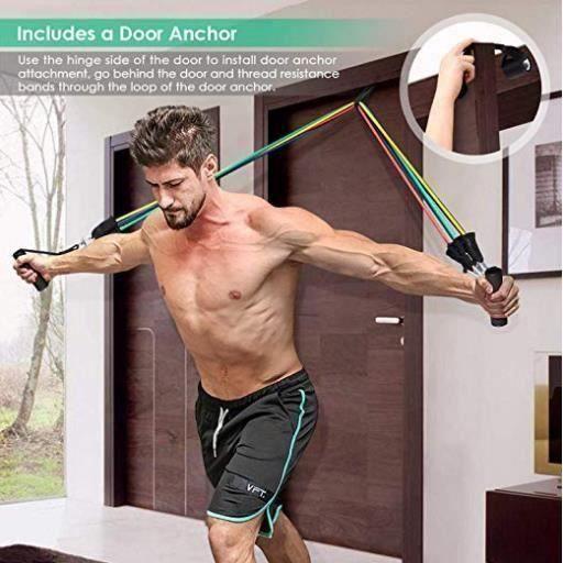 Bandes de Resistance Elastiques Musculation Set Fitness Exercice Bandes Kit pour Fitness Yoga Gym Entraînement Hommes Femmes