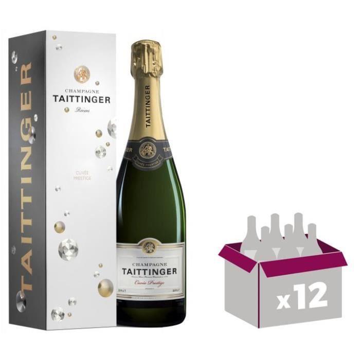 12X Taittinger Cuvée Prestige 75cl - Etui - Champagne