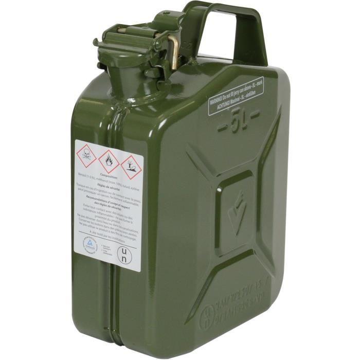 JARDIN PRATIC Jerrican en metal - 5L - vert armée