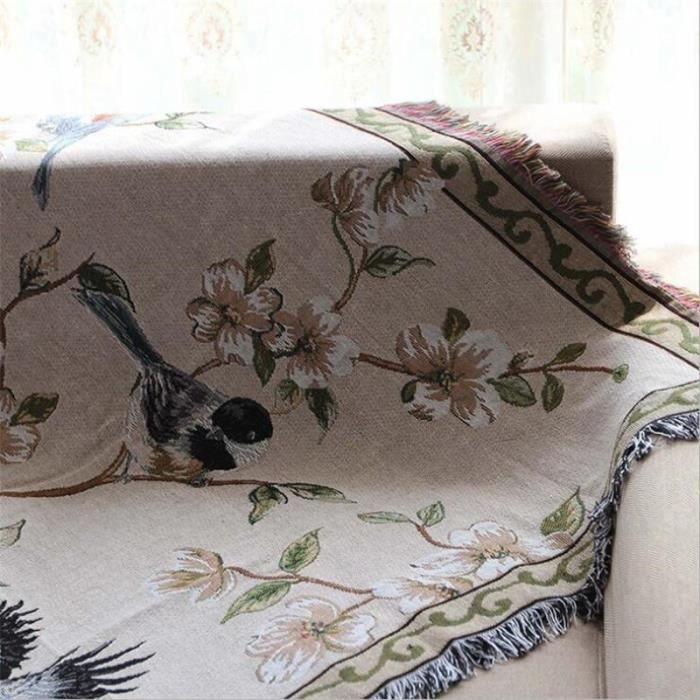 Couverture serviette décorative en coton pour canapé, Plaid rectangulaire, Boho, couture, voyage, avion, sain [B12B53B]