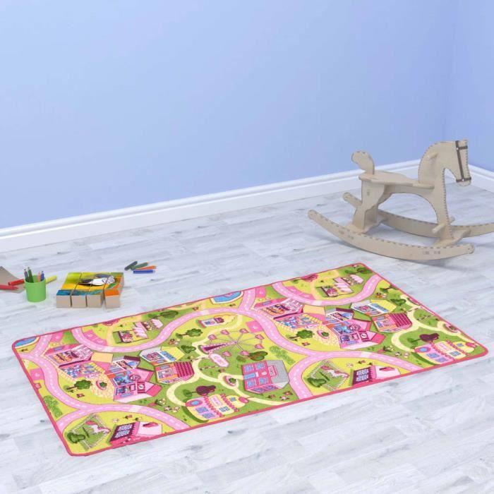 Luxueux Magnifique-Tapis de jeu Poil à boucle Tapis de Jeux Enfant - 190 x 290 cm Motif de ville jolie♫6292