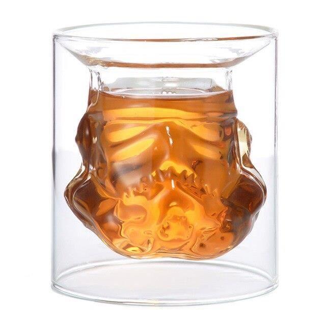 Verre à vin crâne 600ml, verre à whisky, Vodka, carafe à vin Double couche, ensemble de verres à Cocktail, carafe à vin *DE8620