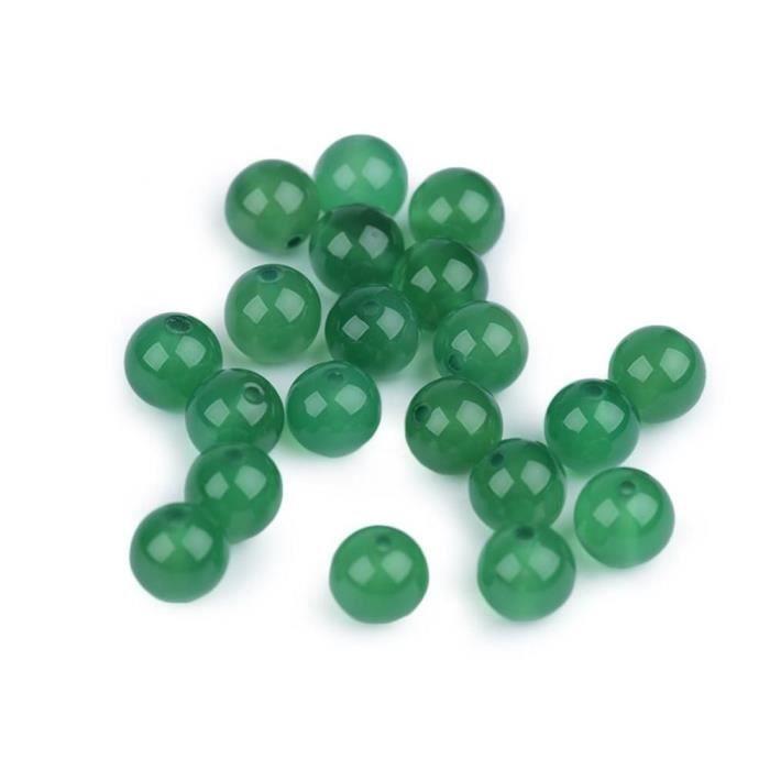48pc Porte Verte Minérale Perles En Agate 8mm, Perles, Nacre, Pierre De Lave, Et Nacrés