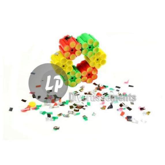 lot de 6 cartouches 6 coups pour pistolet à confettis