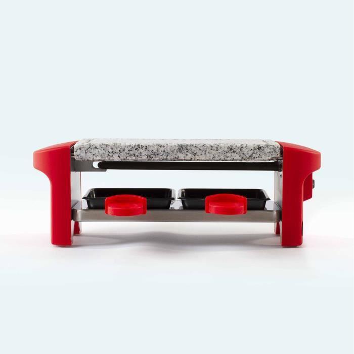 LIVOO DOC156 Appareil à raclette 2 personnes – Rouge