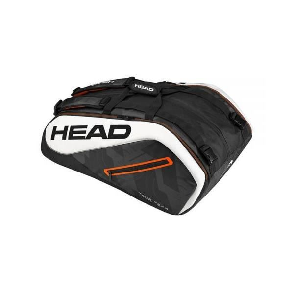 SAC DE TENNIS HEAD TOUR TEAM 12R MONSTERCOMBI NOIR BLANC 283437 BKWH