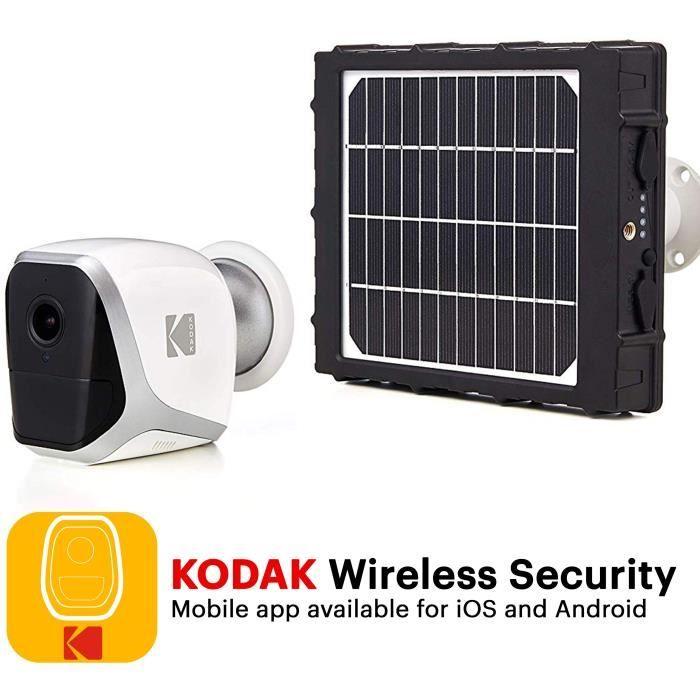 Pack Caméra autonome sans fil Full HD KODAK W101 & Panneau Solaire KODAK SP101 (W101SP)