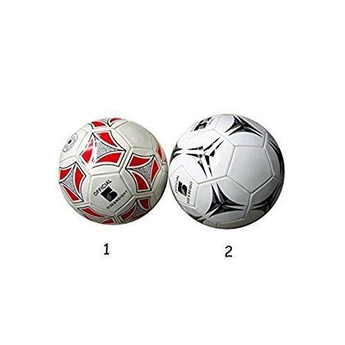 Ballon de Football Taille 5 Officiel 22cm - Simili Cuir - Noir - 132