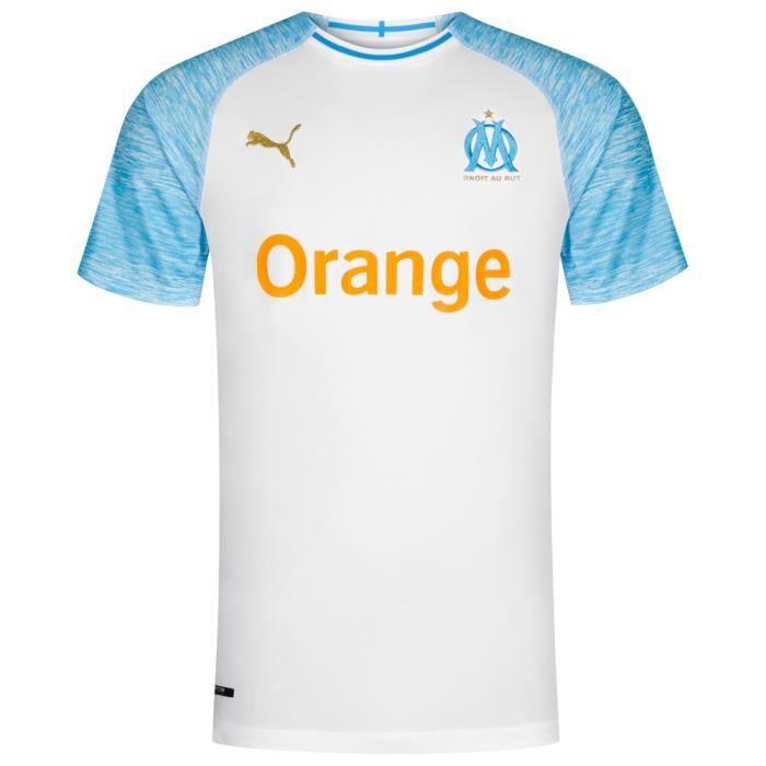 Puma Maillot Olympique de Marseille OM Domicile Blanc 2018/2019