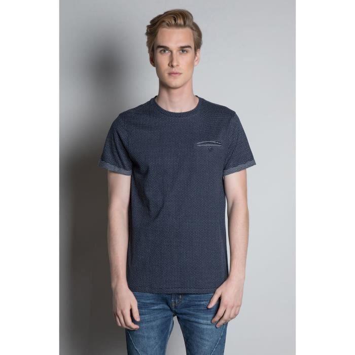 DEELUXE T-shirt jacquard col rond NOVEL Navy