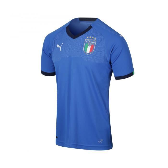 Maillot Italie Domicile Football Enfant Puma Bleu 2018/2019