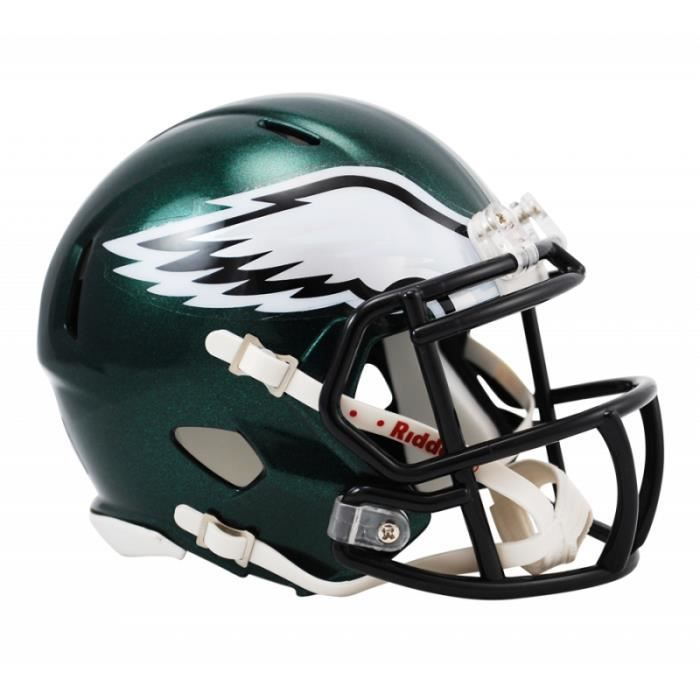Mini casque NFL Philadelphia Eagles Riddell Replica aille unique Noir