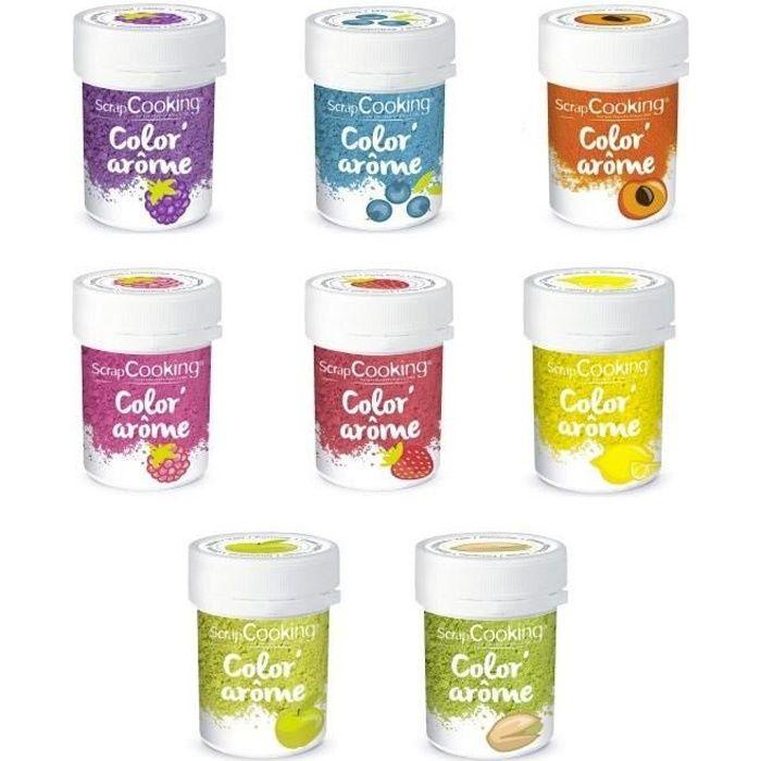 ScrapCooking - Kit 8 Colorants alimentaires aux Arômes de fruits