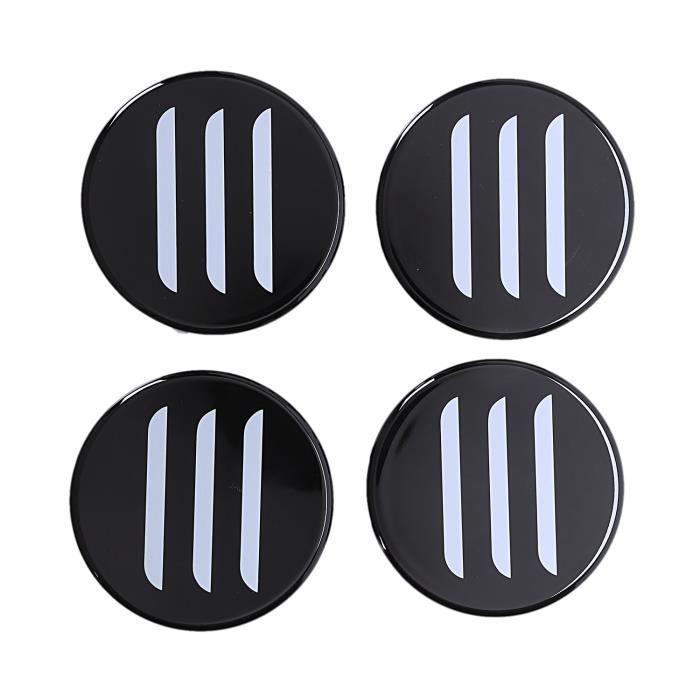 4 PièCes Cache-éCrou DéCoratif pour Moyeu de Roue de Voiture pour Enjoliveur de Roue Tesla Modèle 3 Blanc