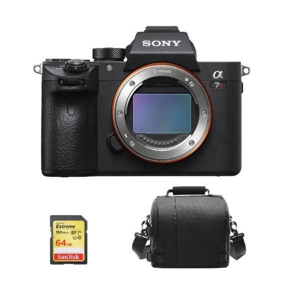 SONY A7R III Body + 64GB SD card + camera Bag