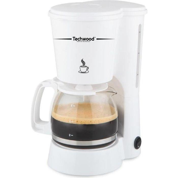TECHWOOD TCA-682 Cafetière filtre - Blanc