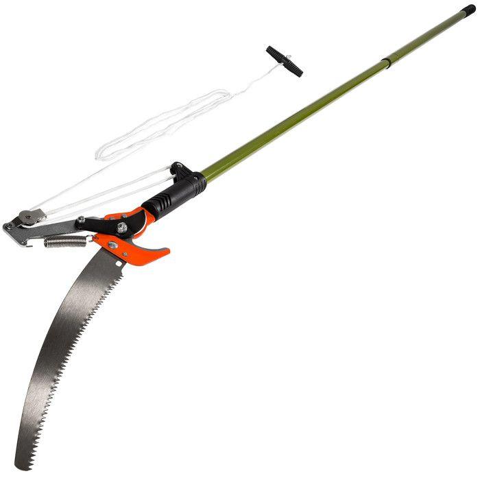 TECTAKE Coupe Branche 2 en 1 Télescopique en Acier avec 1 Câble 260 cm x 3 cm Ø Vert